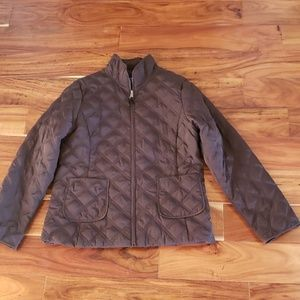 Jones New York Quilted Down Jacket Size M